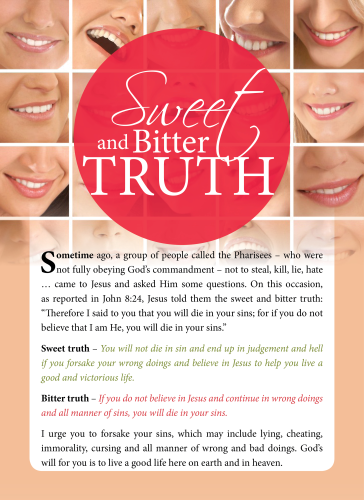 Tract - Sweet and Bitter truth