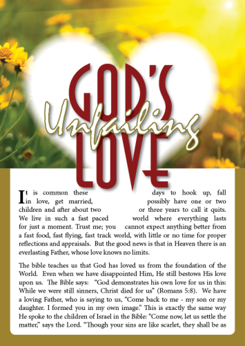 Tract - God's unfailing Love