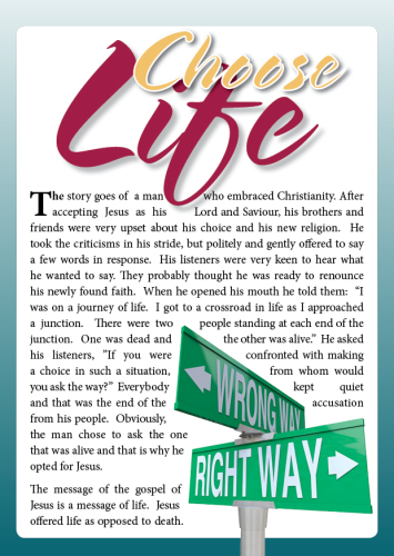 Tract - Choose Life