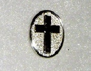 Silver colour cross sign - Lapel pin