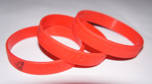 PUSH - Pray Until Something Happens Red Wristband