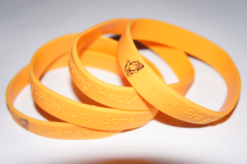 PUSH - Pray Until Something Happens Yellow Wristband