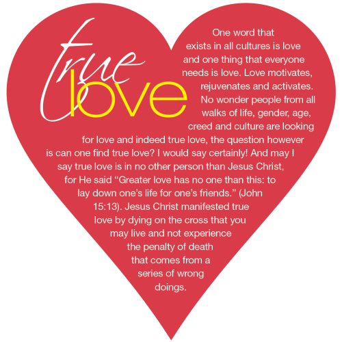 Gospel Tract - True Love Heart shaped