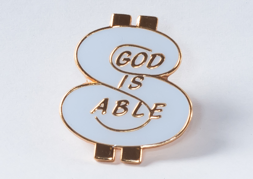 God is Able - Lapel pin